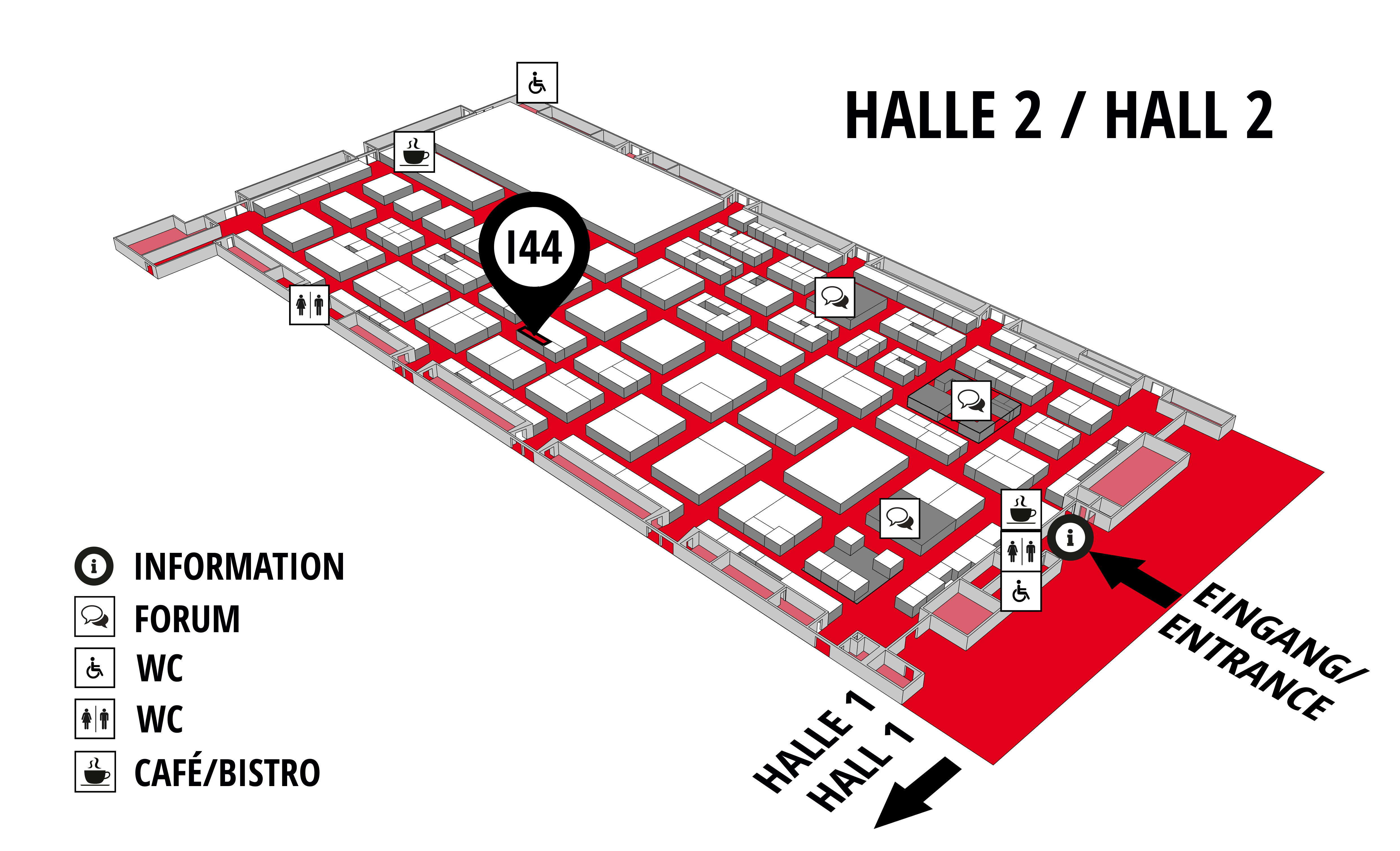 REHAB - Rehabilitation | Therapy | Care | Inclusion hall map (Hall 2): stand i44