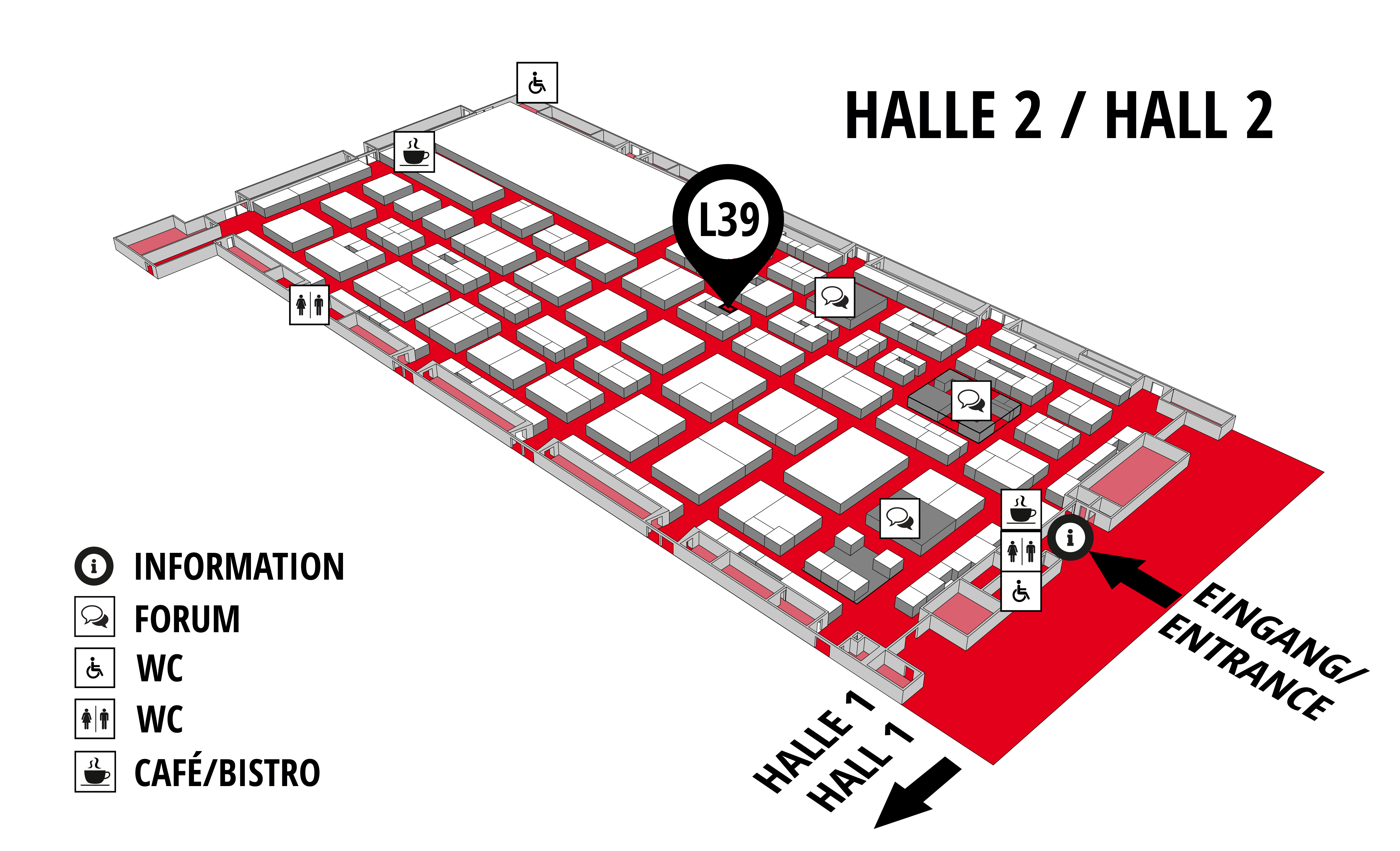 REHAB - Rehabilitation | Therapy | Care | Inclusion hall map (Hall 2): stand L39