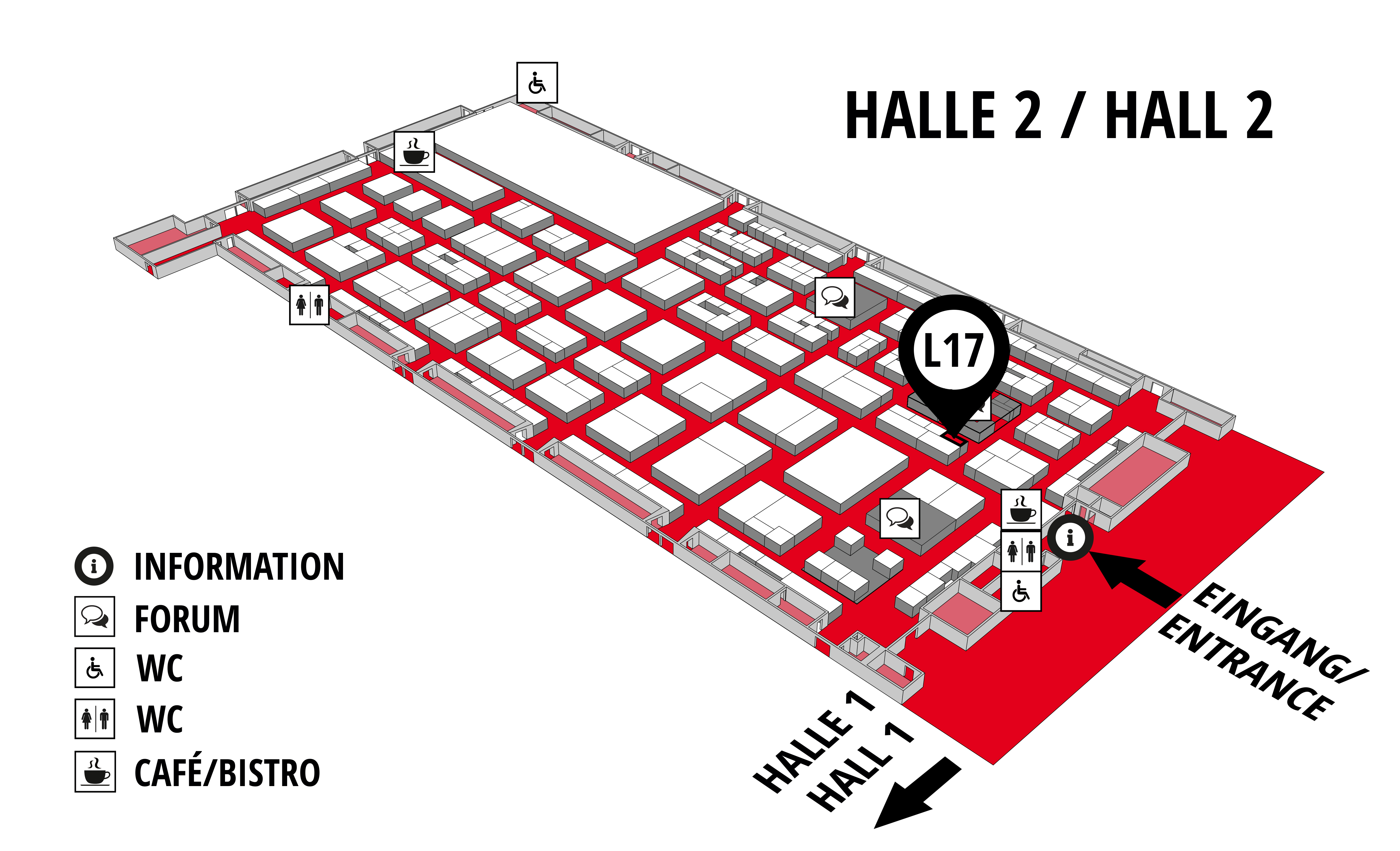 REHAB - Rehabilitation | Therapy | Care | Inclusion hall map (Hall 2): stand L17