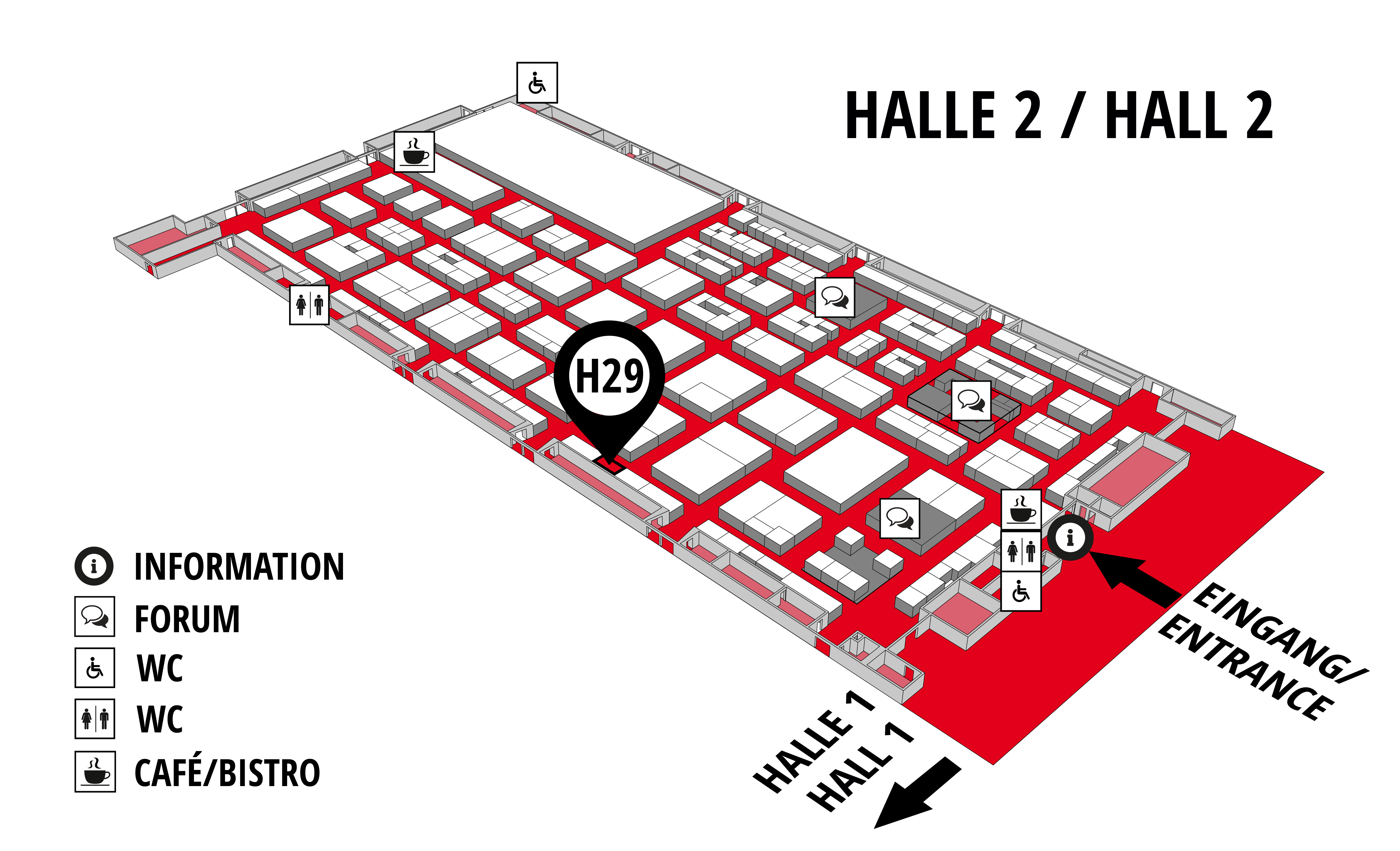 REHAB - Rehabilitation | Therapy | Care | Inclusion hall map (Hall 2): stand H29