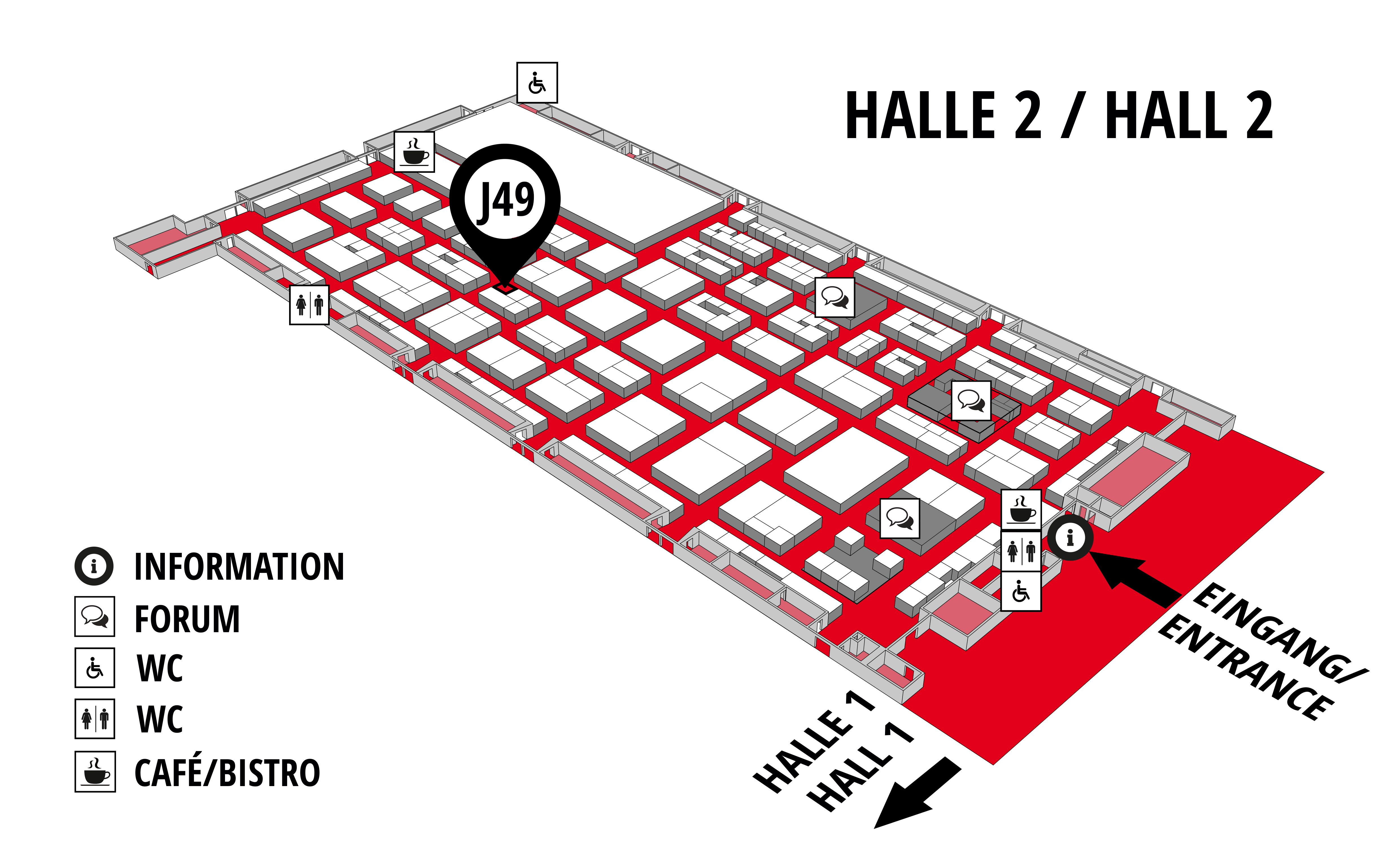 REHAB - Rehabilitation | Therapy | Care | Inclusion hall map (Hall 2): stand J49