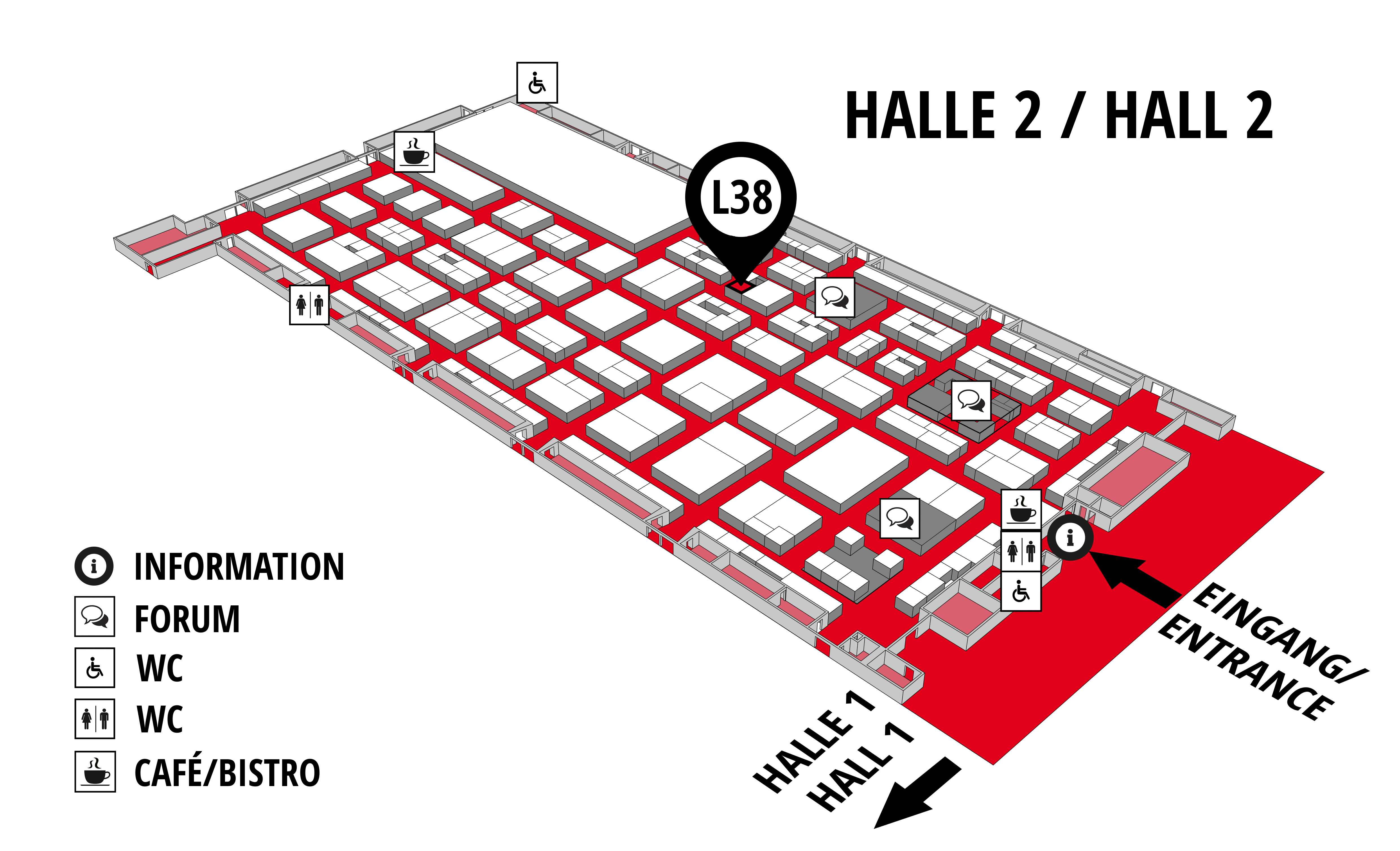 REHAB - Rehabilitation | Therapy | Care | Inclusion hall map (Hall 2): stand L38