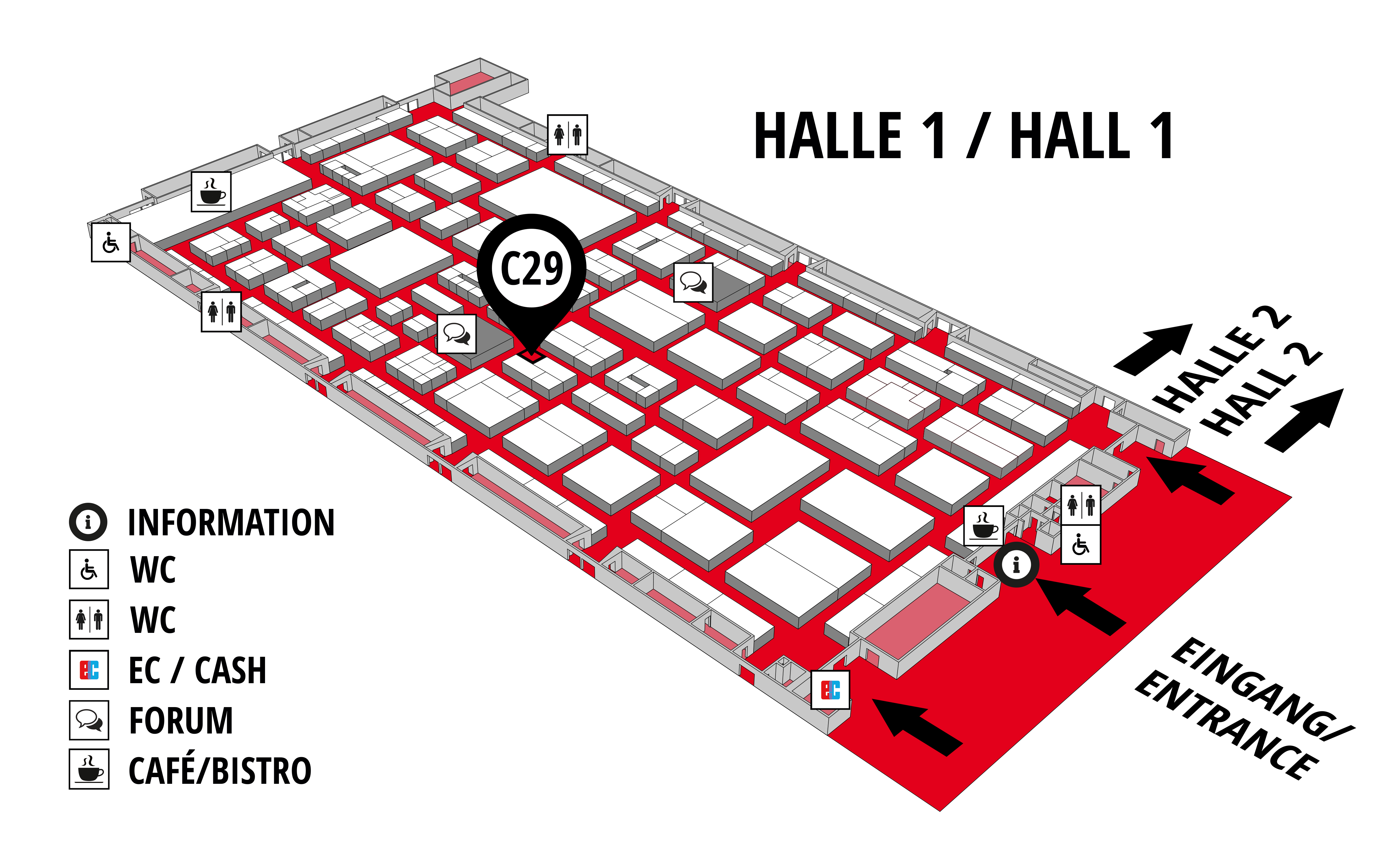 REHAB - Rehabilitation | Therapy | Care | Inclusion hall map (Hall 1): stand C29