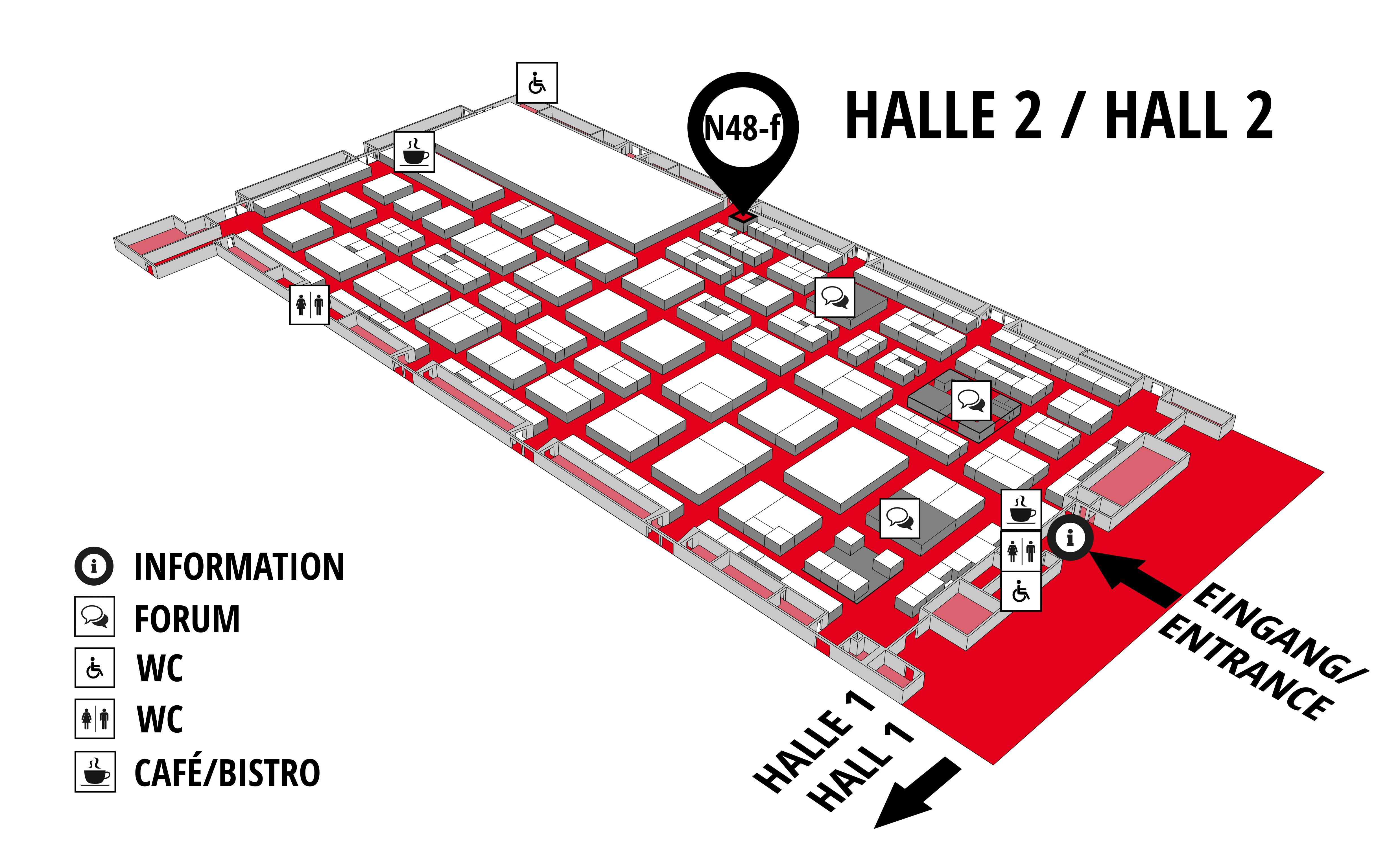 REHAB - Rehabilitation | Therapy | Care | Inclusion hall map (Hall 2): stand N48-f