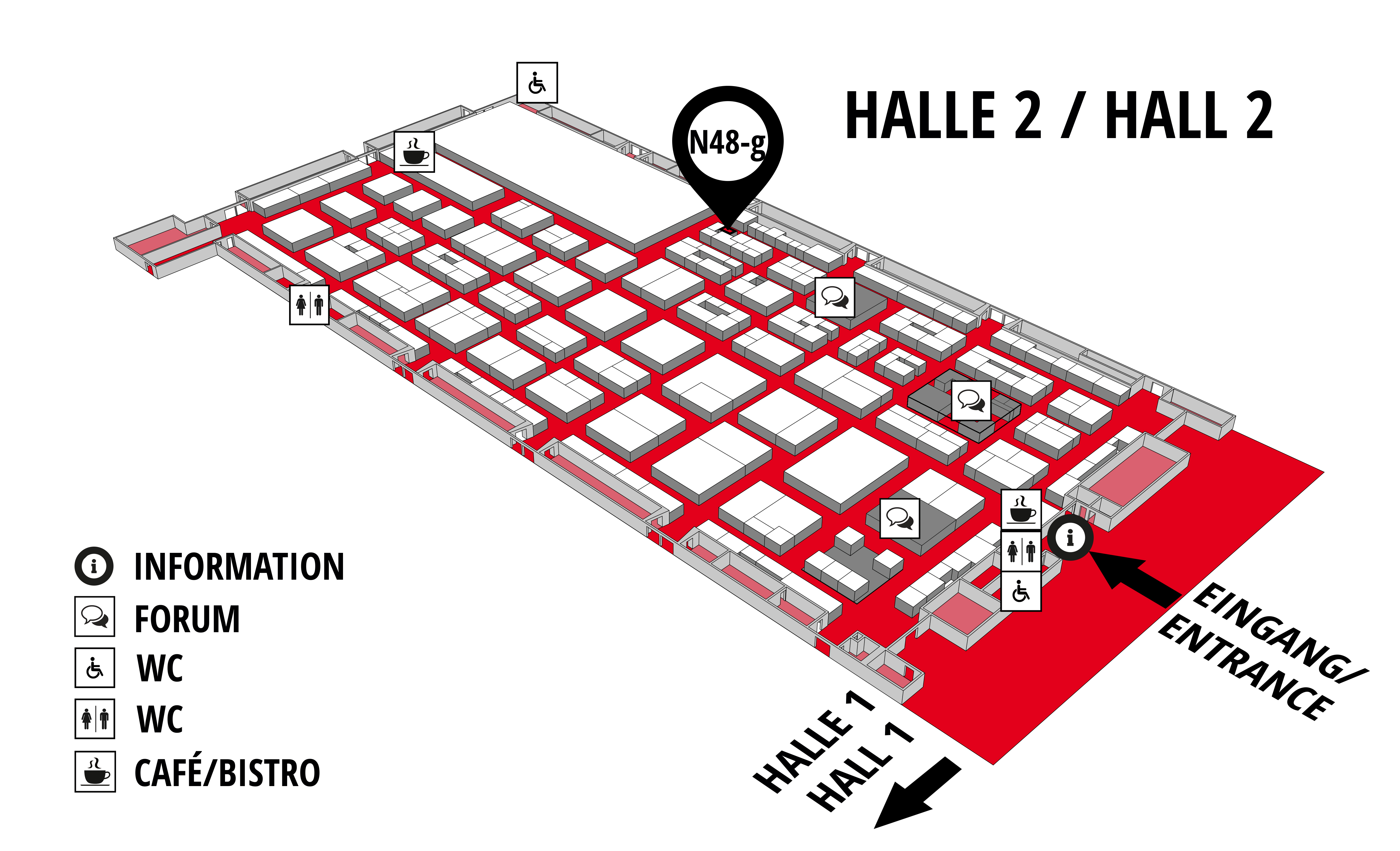 REHAB - Rehabilitation   Therapy   Care   Inclusion hall map (Hall 2): stand N48-g
